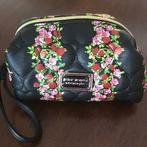 Betsey Johnson Floral Cosmetic Bag BNWT